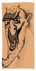 Augie The Ogre Hand Towel by Mark Blauhoefer