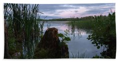 August Evening At The Lake Enajarvi Hand Towel