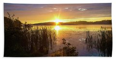 August Morning At The Lake Enajarvi Hand Towel
