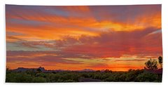 Hand Towel featuring the photograph August Southwest Sunset  H30 by Mark Myhaver
