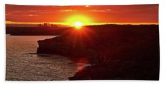 August Sunset From North Head Bath Towel