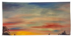 August Sunset In Sw Montana Hand Towel