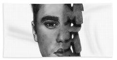 Justin Bieber Drawing By Sofia Furniel Bath Towel
