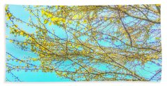 Bath Towel featuring the photograph  Aura Of Springtime by Connie Handscomb