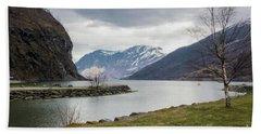 Aurlandsfjorden Hand Towel by Suzanne Luft