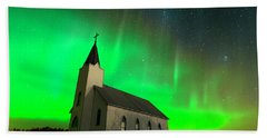 Aurora And Country Church Bath Towel