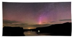 Bath Towel featuring the photograph Aurora At Lake Billy Chinook by Cat Connor