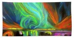 Aurora Borealis Hand Towel by Jenny Lee