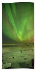 Aurora Borealis Or Northern Lights. Hand Towel