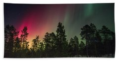 Aurora Borealis Bath Towel by Thomas M Pikolin