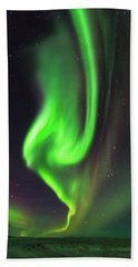 Hand Towel featuring the photograph Aurora Burst by Allen Biedrzycki