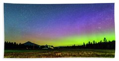 Bath Towel featuring the photograph Aurora In Sisters by Cat Connor