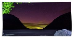 Aurora Over Lake Willoughby Bath Towel