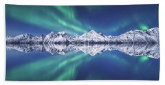 Aurora Square Hand Towel by Tor-Ivar Naess