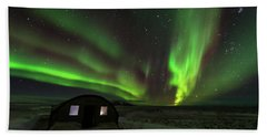 Hand Towel featuring the photograph Aurora Storm by Allen Biedrzycki