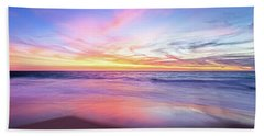 Aussie Sunset, Claytons Beach, Mindarie Bath Towel