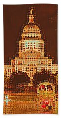 Austin Capitol At Night Hand Towel