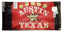 Austin Live Music Hand Towel by Trish Mistric