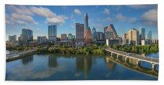 Austin Skyline Panorama Spring Afternoon 7-1 Hand Towel by Rob Greebon