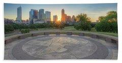Austin, Texas, May Skyline Sunrise 1 Hand Towel by Rob Greebon