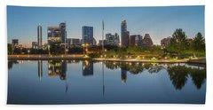 Austin Texas Skyline Panorama Before Sunrise 1 Hand Towel by Rob Greebon