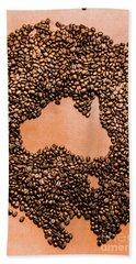 Australia Cafe Artwork Bath Towel