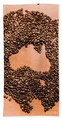 Australia Cafe Artwork Bath Towel