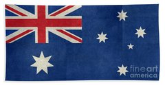 Australian Flag Vintage Retro Style Hand Towel by Bruce Stanfield
