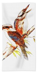 Bath Towel featuring the photograph Australian Kookaburra 666 by Kevin Chippindall