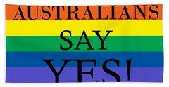 Australians Say Yes Hand Towel