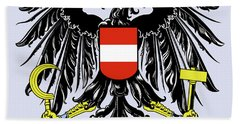 Austria Coat Of Arms Hand Towel by Movie Poster Prints