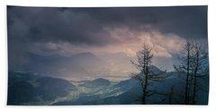 Hand Towel featuring the photograph Austrian Alps by Allin Sorenson