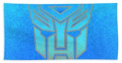 Bath Towel featuring the digital art Autobot Scales by Justin Moore