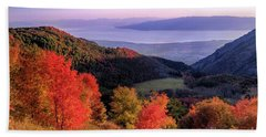 Autumn Above Utah Lake Hand Towel