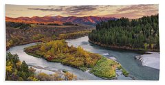 Autumn Along The Snake River Hand Towel