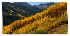 Autumn Aspen Near Castle Creek Hand Towel