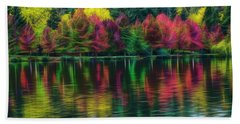 Autumn At Green Lake Seattle Bath Towel