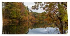 Autumn At Hillside Pond Bath Towel