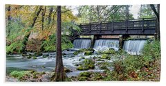 Bath Towel featuring the photograph Autumn At Maramec Spring by Cricket Hackmann