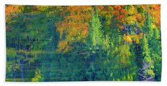 Bath Towel featuring the photograph Autumn At Mccarston's Lake by Gary Hall