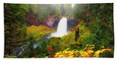 Autumn At Sahalie Falls Bath Towel