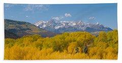 Autumn At Sneffels Mountain Range, San Bath Towel