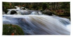 Bath Towel featuring the photograph Autumn At The Bode, Harz by Andreas Levi