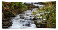 Hand Towel featuring the photograph Autumn At The Falls by Dale Kincaid