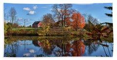 Autumn At The Farm Hand Towel
