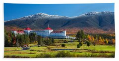 Autumn At The Mount Washington Crop Hand Towel