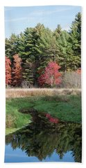 Autumn At The River Bath Towel