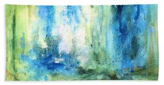Spring Rain  Hand Towel by Laurie Rohner