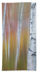 Autumn Birch Impressions Bath Towel