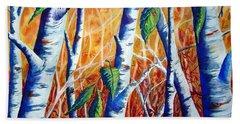 Autumn Birch Bath Towel by Joanne Smoley